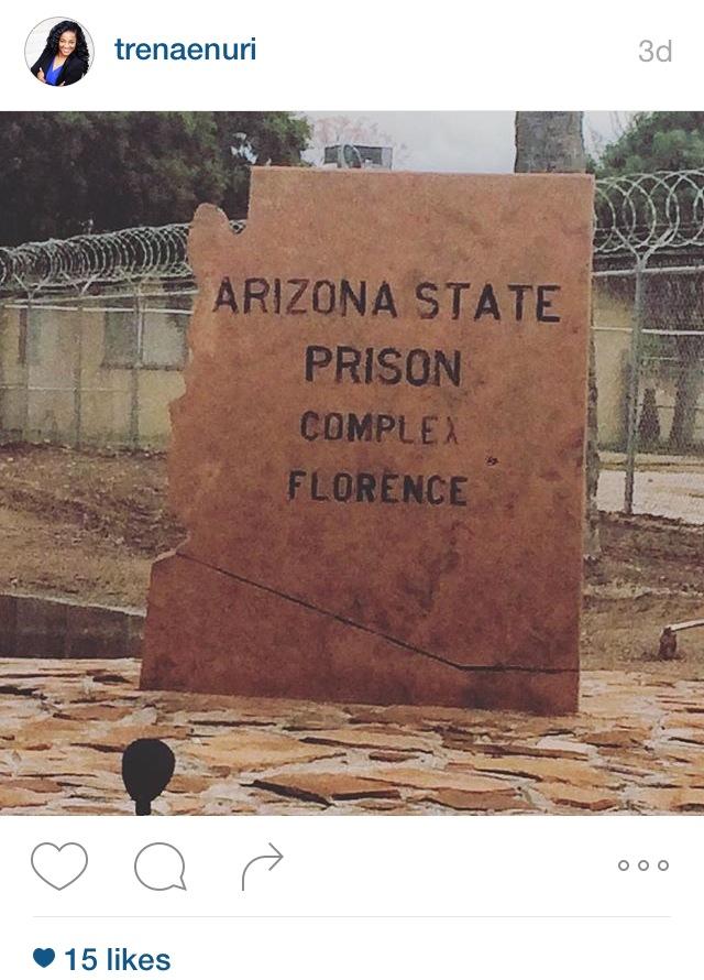 AZ State Prison Sign